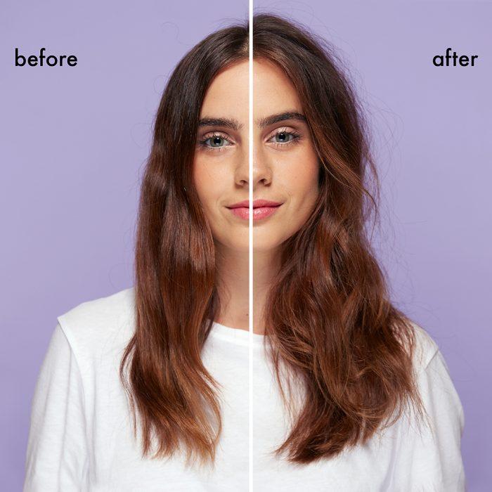 יצירת נפח בשיער - לפני ואחרי