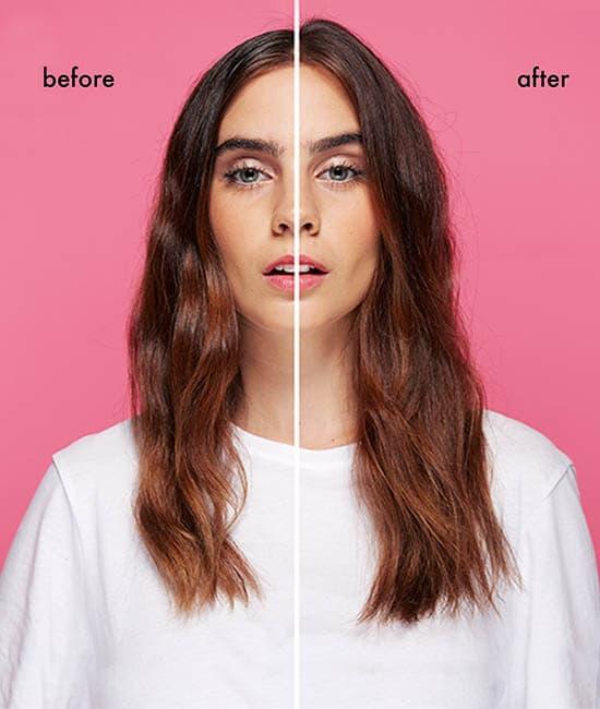 לפני ואחרי - phantom שמפו יבש