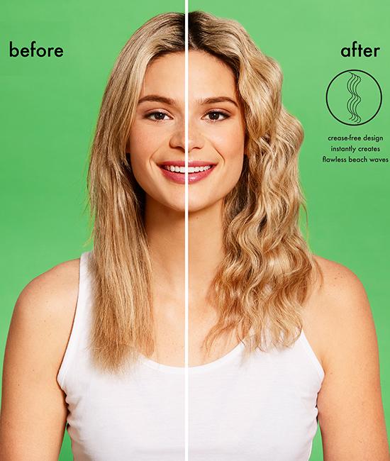 לפני ואחרי - מסלסל ליצירת שיער גלי